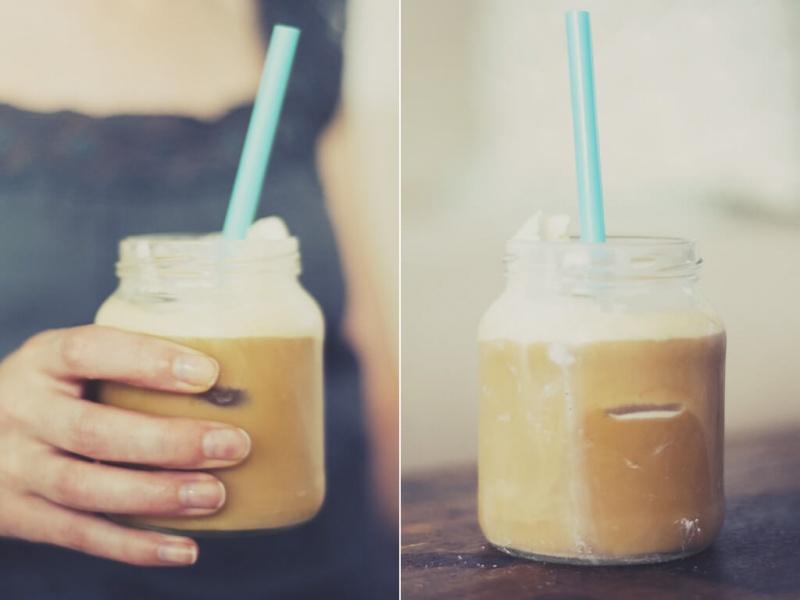 Rezept für einen Eiskaffee
